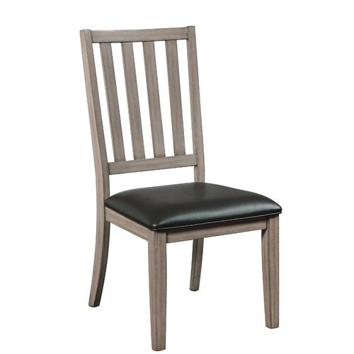 Union Rustic Garin Slat Back Side Chairs – Graywash – Set of 2