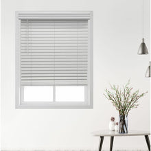 "Load image into Gallery viewer, Symple Stuff 56""W x 48""L Deluxe Cordless Faux Wood Room Darkening Blinds – White"