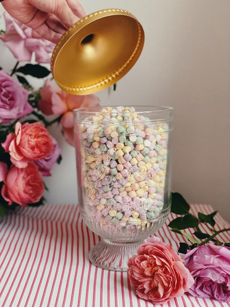 A classic jar of handmade sweets