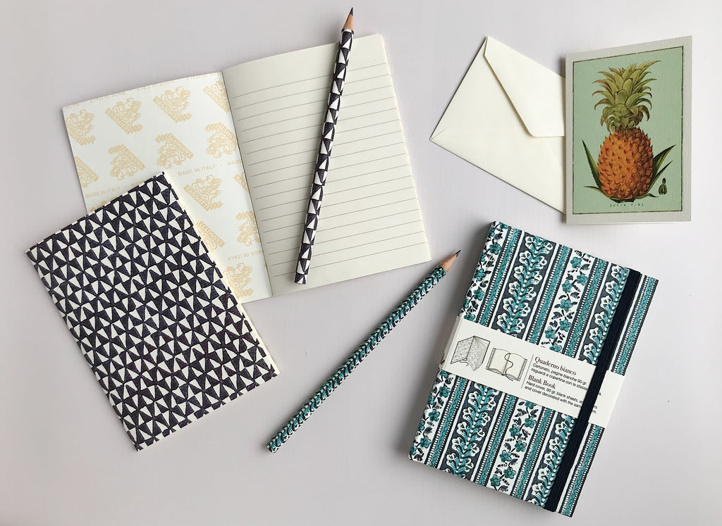 Heritage Italian notebooks, pencils and postcards