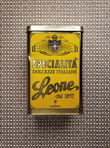 Vintage Italian tin of Leone sweets