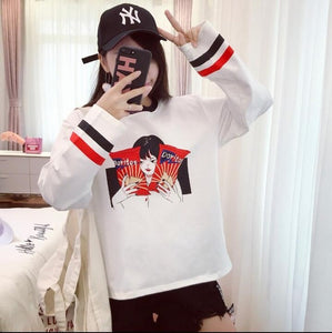 Anime style Print Loose T shirt