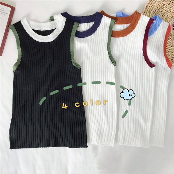 One size Slim Knitting Tank Top