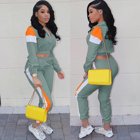 2 Piece Set Women Tracksuit Top and Pant