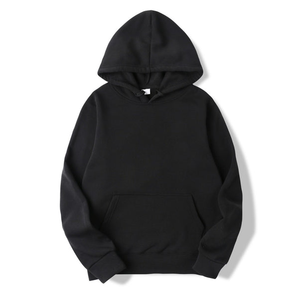 Casual Plain Pullover Hoodie