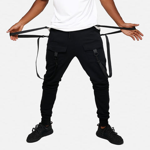 Black Joggers With Belt