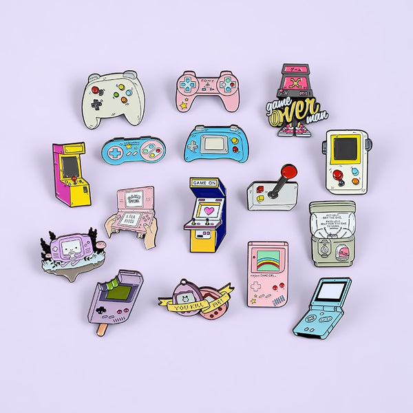 Retro Arcade Game Pins Collections