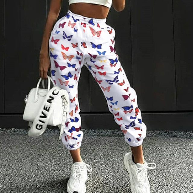 Butterfly Print Sweatpants