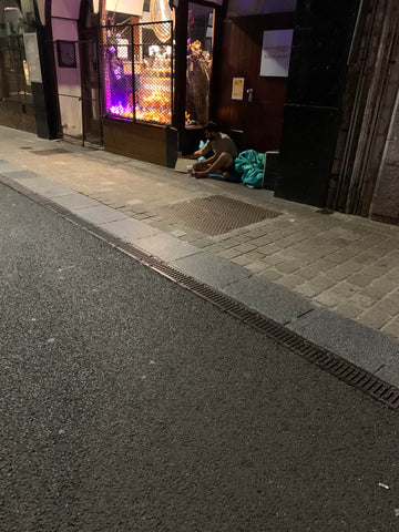 Homeless Man on Galway Street
