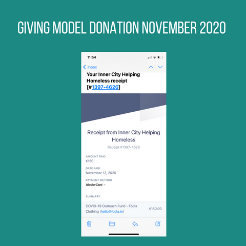 Giving Model Donation November 2020