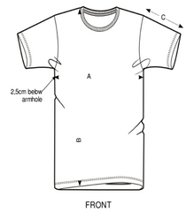 Men's Fitted Tee Size Guide