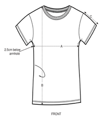 Women's Fitted Tee Size Guide
