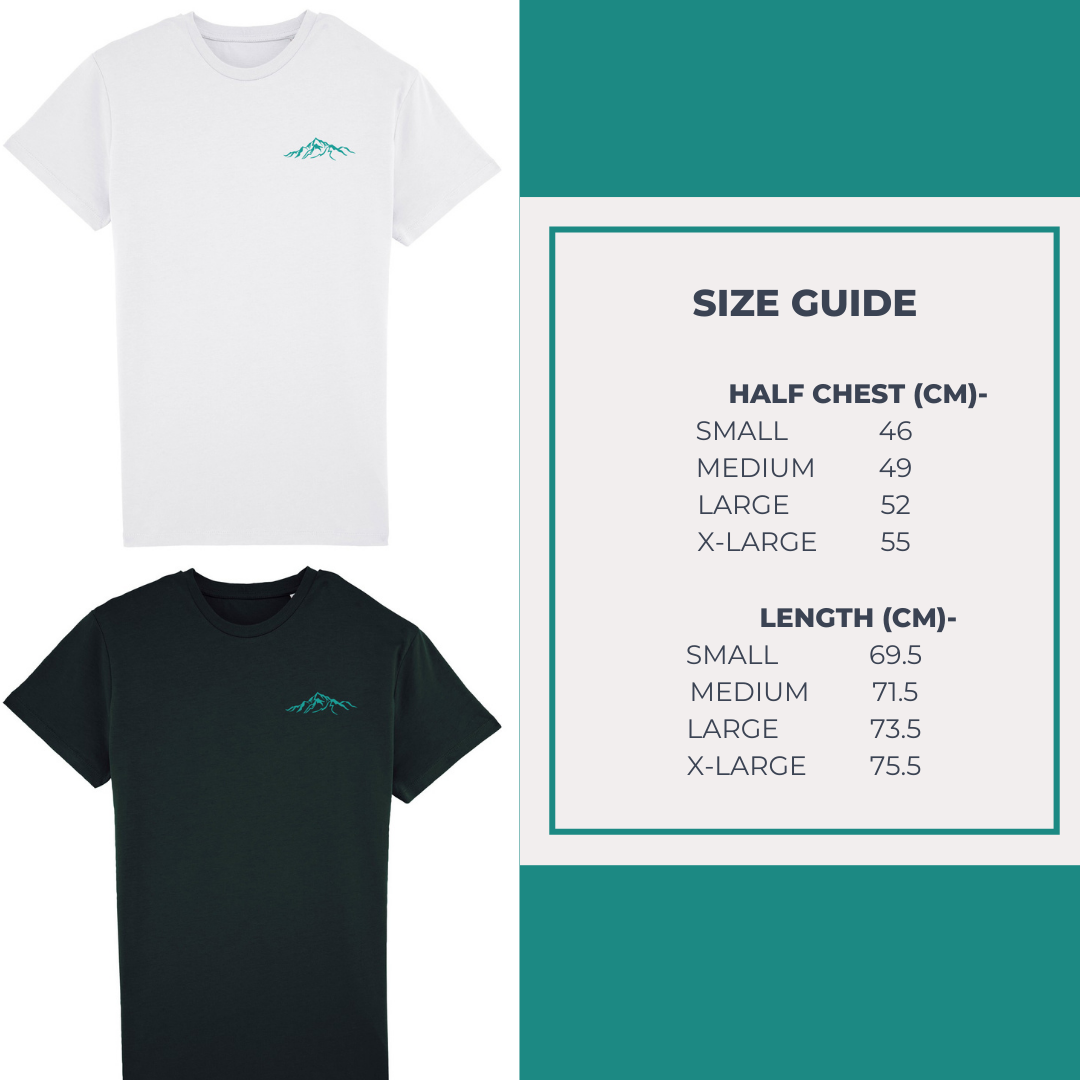 Men's Organic Cotton Tee Size Guide