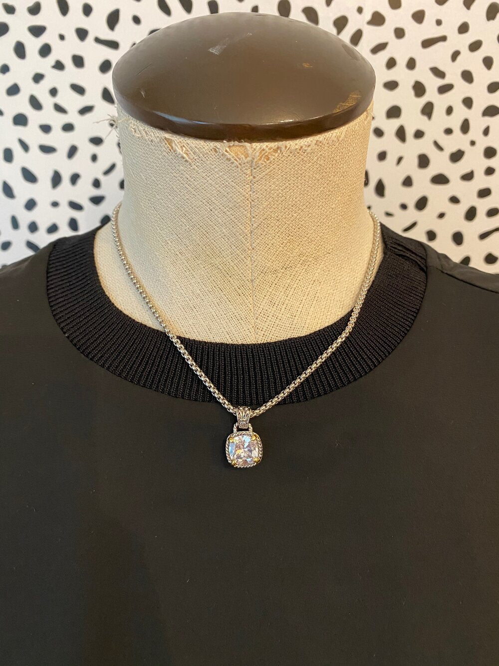Silver Stone Necklace