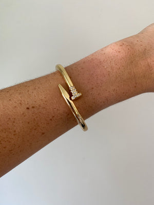 Gold Wrapped Nail Bracelet