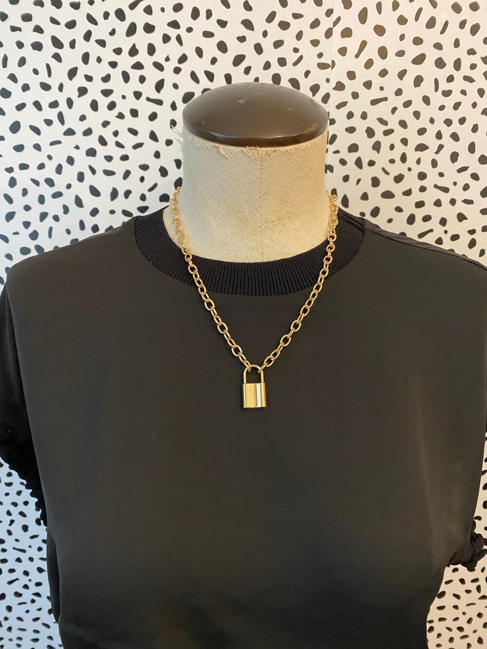 Gold Lock Me In Necklace