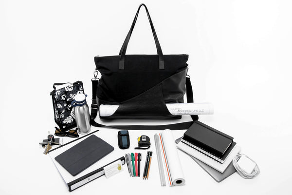 The A bag, scales, architectural drawings, other tools