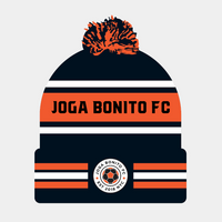Joga Bonito FC 2020 Sideline Official Sport Pom Cuffed Knit Hat - Orange/Black