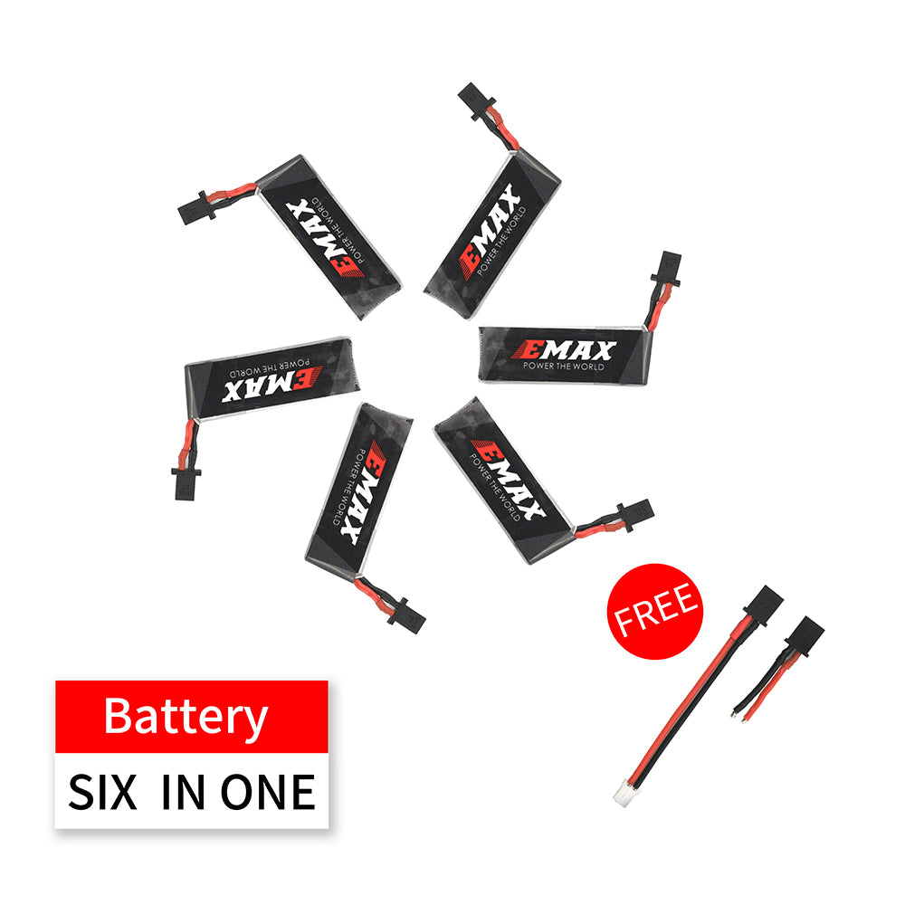 Nanohawk Spare Parts - 6in1 4.35HV 1S 300mAh 80C Lipo Battery for Nanohawk with 2ea wires