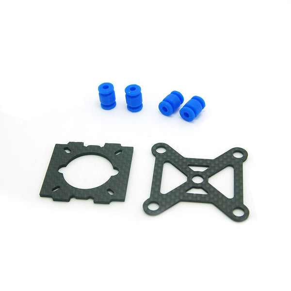 250 Quadcopter Frame Kit Glass fiber & Carbon Fiber mixed Parts - Two small mounting plate and shock absorption balls