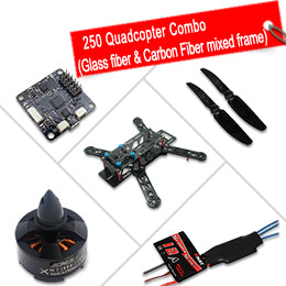 250 Quadcopter Combo (Glass fiber & Carbon Fiber mixed frame)