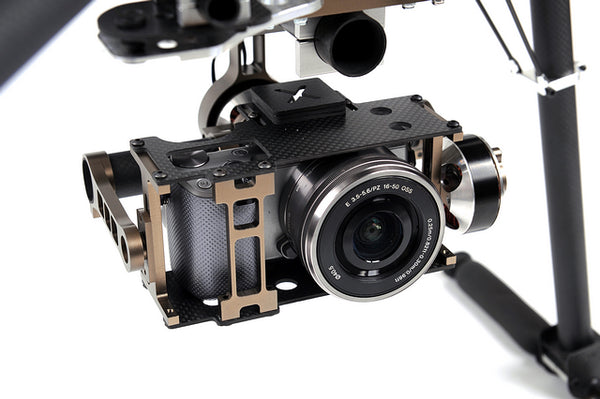 X-CAM X140B X140Bs FPV Two-axis Brushless Stabilized Gimbal Camera Mount for NEX5 ILDC Camera FPV