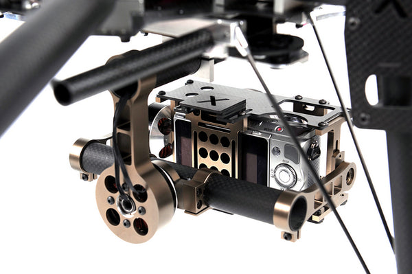 X-CAM X140B X140BL FPV Two-axis Brushless Stabilized Gimbal Camera Mount for NEX5 ILDC Camera FPV