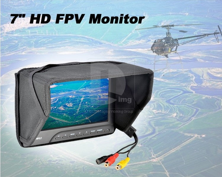 FPV769A Ground Station FPV 7 Monitor w-Sun Shield
