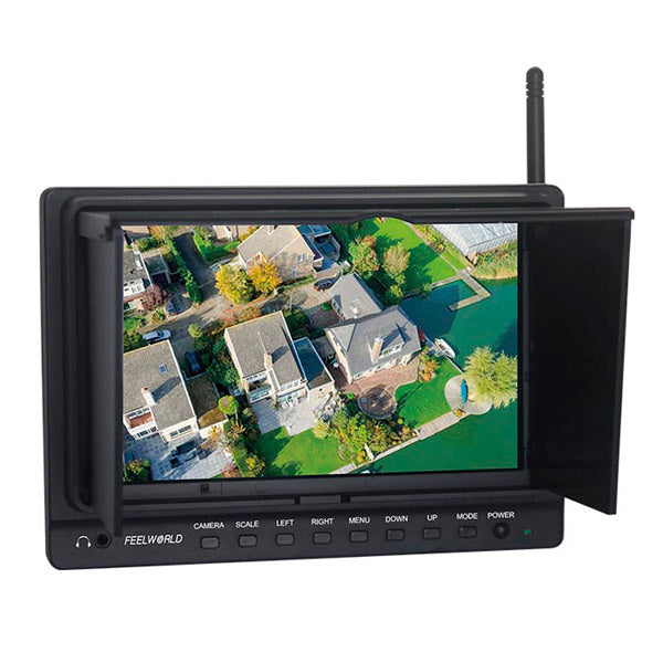 FPV-758 Ground Station FPV 7 Monitor built-in 5.8G receiver w-Sun Shield