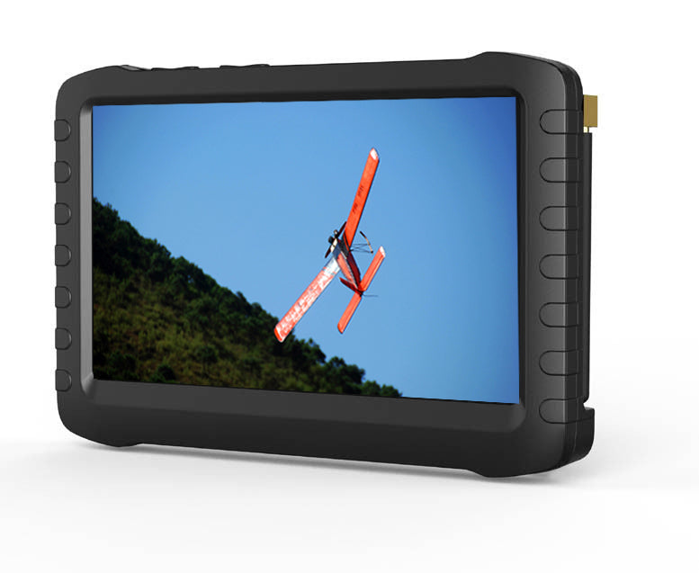 TE968H 5 Inch FPV 5.8G 8 Channels Vrx Wireless Mini DVR LCD Monitor-5.8G D EU Plug