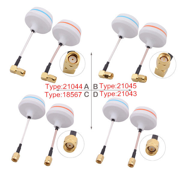 5.8G Right Angle SMA Female Antenna Gains FPV Aerial Photo RC Airplane 1 pair 21044