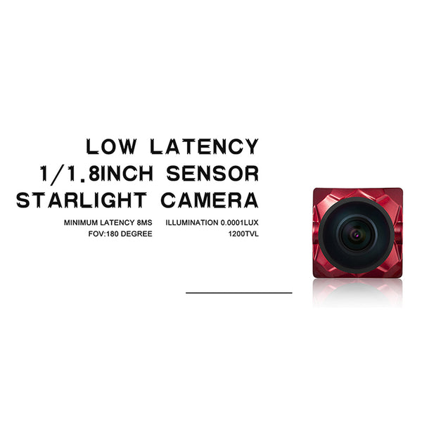 Caddx Ratel 1-1.8'' Starlight HDR OSD 1200TVL NTSC- PAL 16:9-4:3 Switchable 1.66mm-2.1mm Lens FPV Camera For RC Drone Quadcopter
