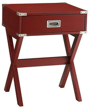 Load image into Gallery viewer, Red Solid Wooden Single Drawer End Table