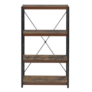 "23.62"" X 11.02"" X 42.51"" Weathered Oak Bookcase"