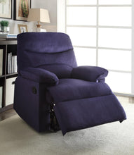 Load image into Gallery viewer, Blue Woven Fabric Upholstered Recliner with Knock Down Back