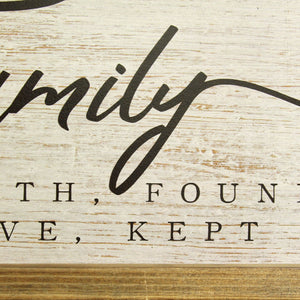 """Our Family"" Wooden and Metal Wall Decor"