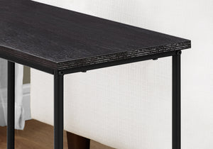 "11.75"" x 23.75"" x 22"" Cappuccino Black Mdf Metal  Accent Table"