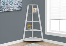 Load image into Gallery viewer, White Bookcase Corner Accent Shelf