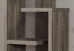 "12"" x 18.5"" x 47.25"" Dark Taupe Particle Board Hollow Core  Bookcase"