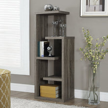 "Load image into Gallery viewer, 12"" x 18.5"" x 47.25"" Dark Taupe Particle Board Hollow Core  Bookcase"