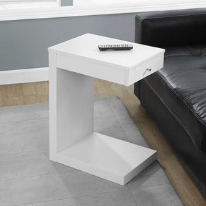 "18.25"" x 12"" x 24"" White Finish Hollow Core Accent Table"