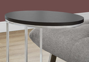 "18.5"" x 12"" x 25"" Cappuccino Particle Board Laminate Metal Accent Table"