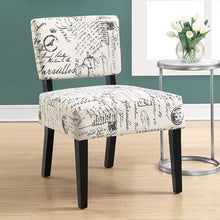"Load image into Gallery viewer, 27.5"" x 22.75"" x 31.5"" Beige Cotton Linen Foam Accent Chair with Solid Wood Frame"