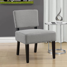 "Load image into Gallery viewer, 27.5"" x 22.75"" x 31.5"" Light Grey Black Foam Accent Chair with Solid Wood Frame"