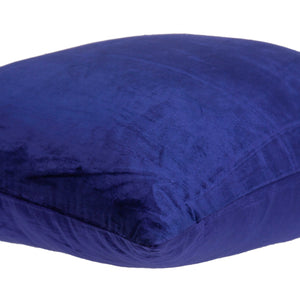 "18"" x 7"" x 18"" Transitional Royal Blue Solid Pillow Cover With Poly Insert"