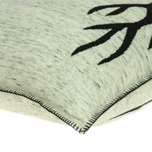 "Load image into Gallery viewer, 20"" x 7"" x 20"" Lodge Grey & Black Pillow Cover With Poly Insert"