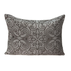 "20"" x 6"" x 14"" Transitional Champagne Pillow Cover With Down Insert"