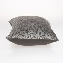 "Load image into Gallery viewer, 20"" x 6"" x 14"" Transitional Champagne Pillow Cover With Down Insert"