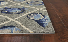 Load image into Gallery viewer, 7' x 9'  UV treated Polypropylene Grey Area Rug