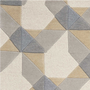 "8' x 10' 6"" Wool Ivory or Grey Area Rug"